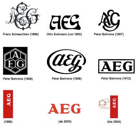 Aeg Logoentwicklung Seit 1896